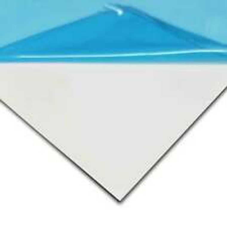 "Aluminum White .080 - PVC 1 SIDED - 24"" x 18"""