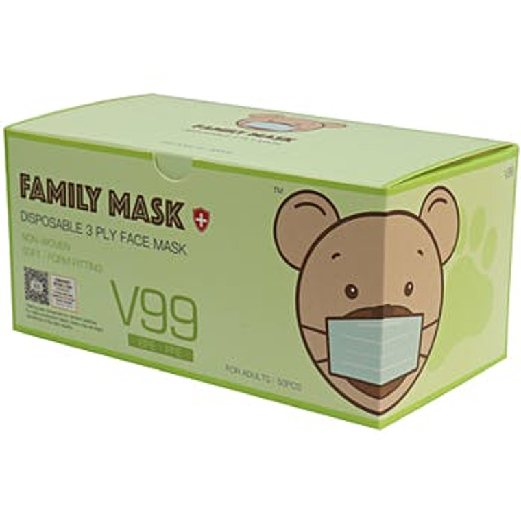 Disposable Face Mask with Ear Loops - 50 Pack