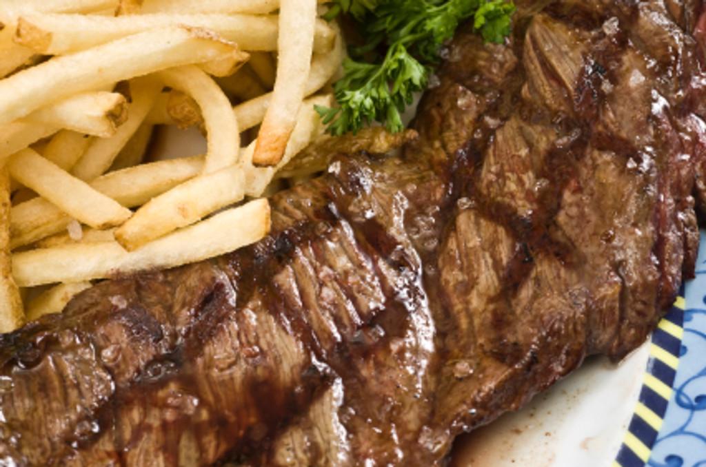 flat iron steak cooked