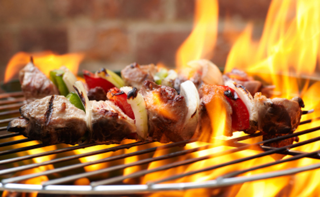 beef kabob cooked