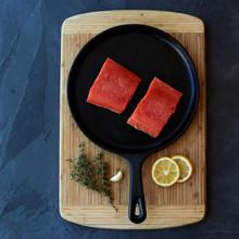 salmon portion cut