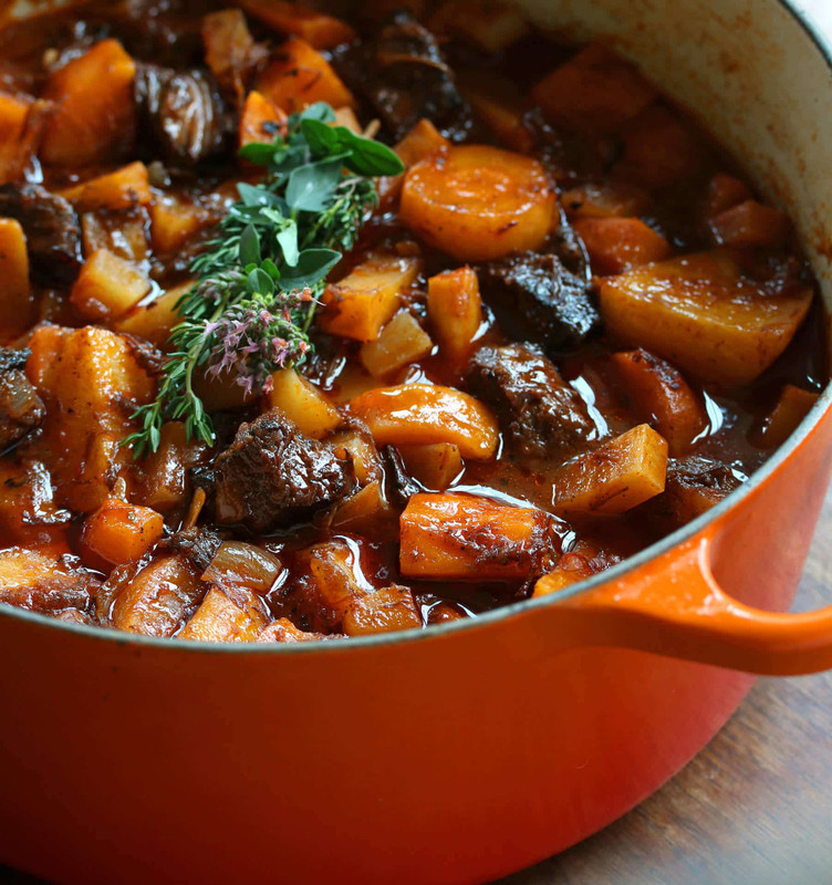 Beef Stew with Orange Veggies