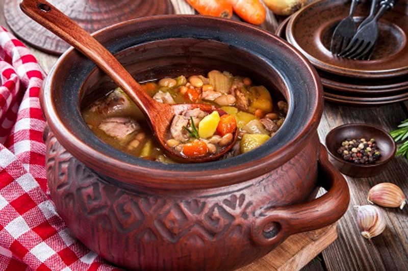 French Bean and Sausage Soup