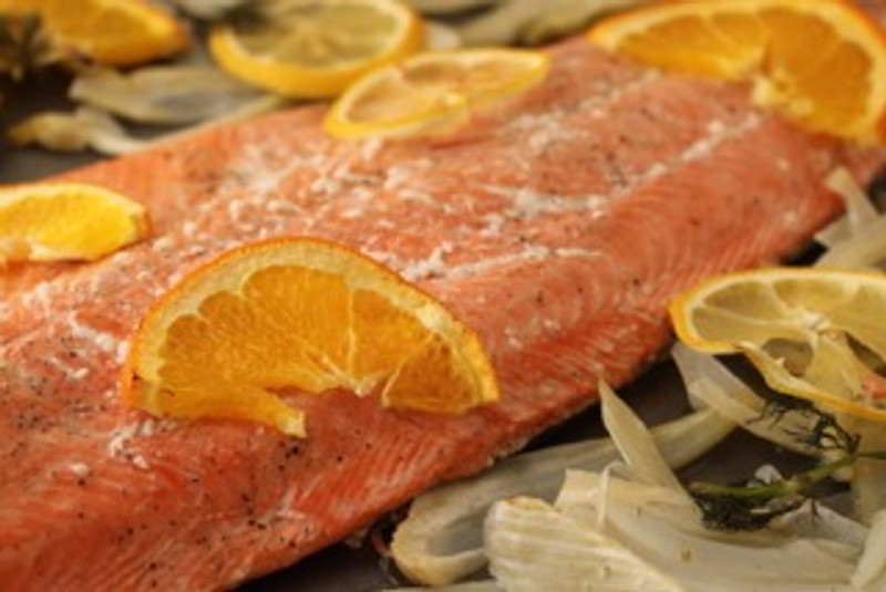 Salmon Fillet with Citrus and Fennel