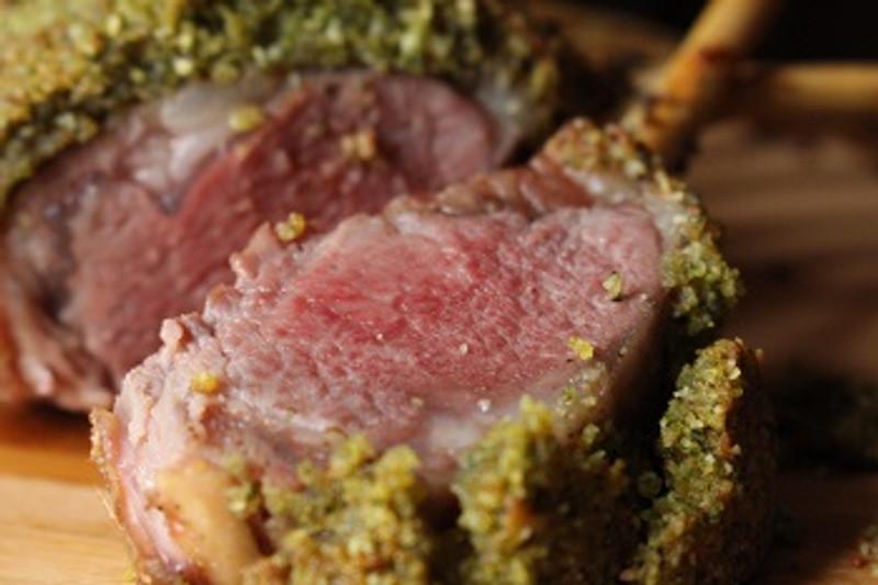 Almond Macaroon Persillade Rack of Lamb