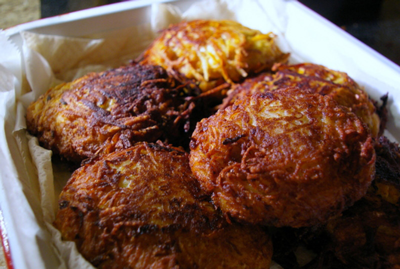 Turkey Cranberry Stuffed Latke