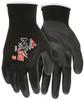 MCR Safety 9669L, 13 Gauge Black Nylon Shell, Black PU Palm & Fingers, L (12pr)