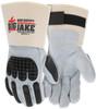 "MCR Safety 1760L Big Jake, Full Leather Back, TPR Cage Back, 4.5"" Rubber Cuff, L (12 pr)"