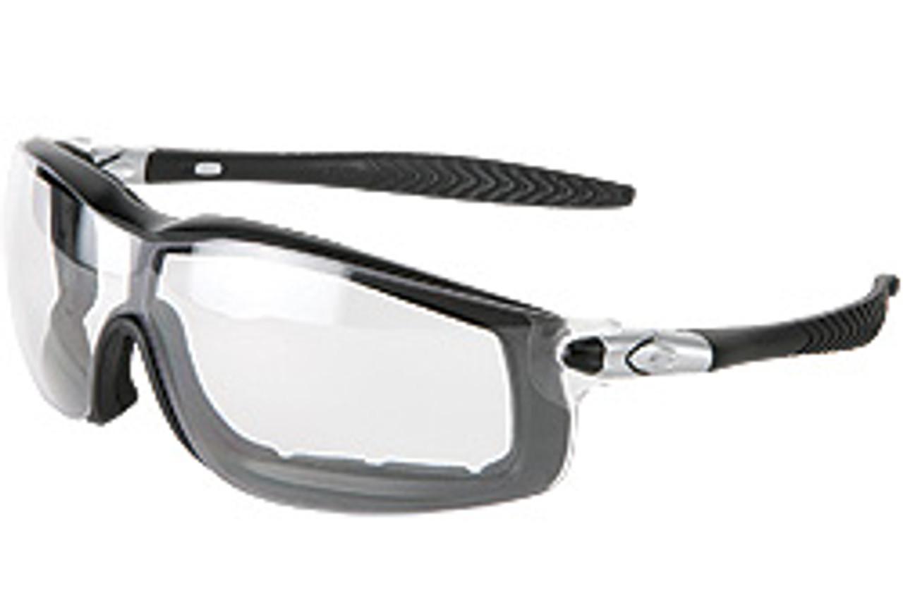Crews RT110AF Rattler Safety Glasses Black Frame w/Clear Anti-Fog Lens (12 Pair)