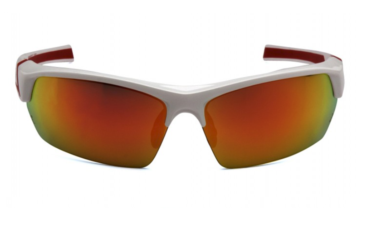 Pyramex Venture Gear VGSWR351 Tensaw Safety Glasses Red Mirror Polarized Lens, White/Red Frame,( 1 Pair)