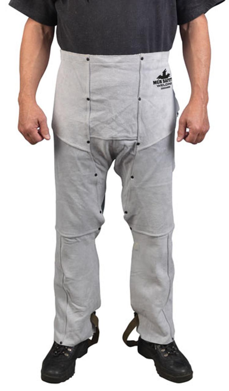 Memphis Welding 38600MW  Gray Welding Chaps 38 Inches Long, (1 each)
