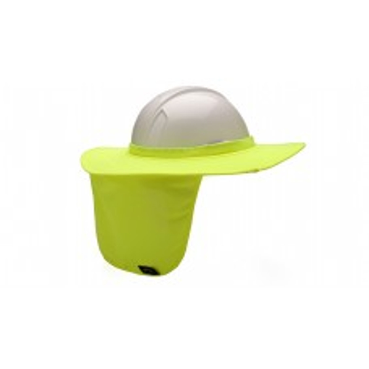 Pyramex HPSHADE30 Lime Hard Hat Brim with Neck Shade, Qty.1