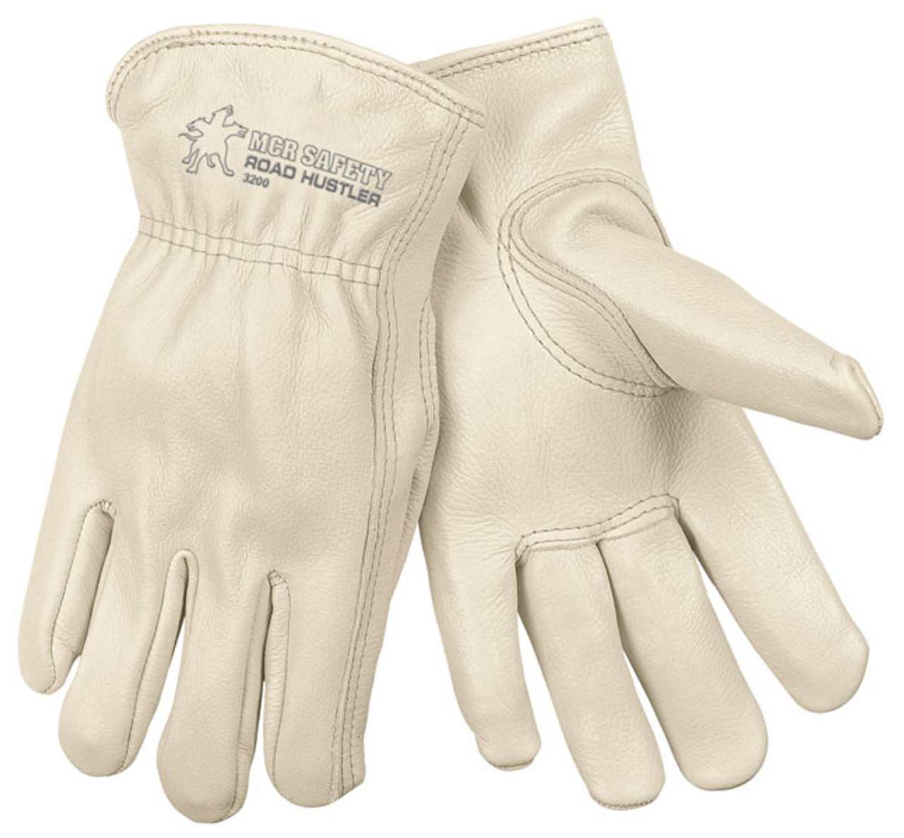 Memphis Gloves 3200L Road Hustler Cow Leather Gloves, Size Large (12 Pair)