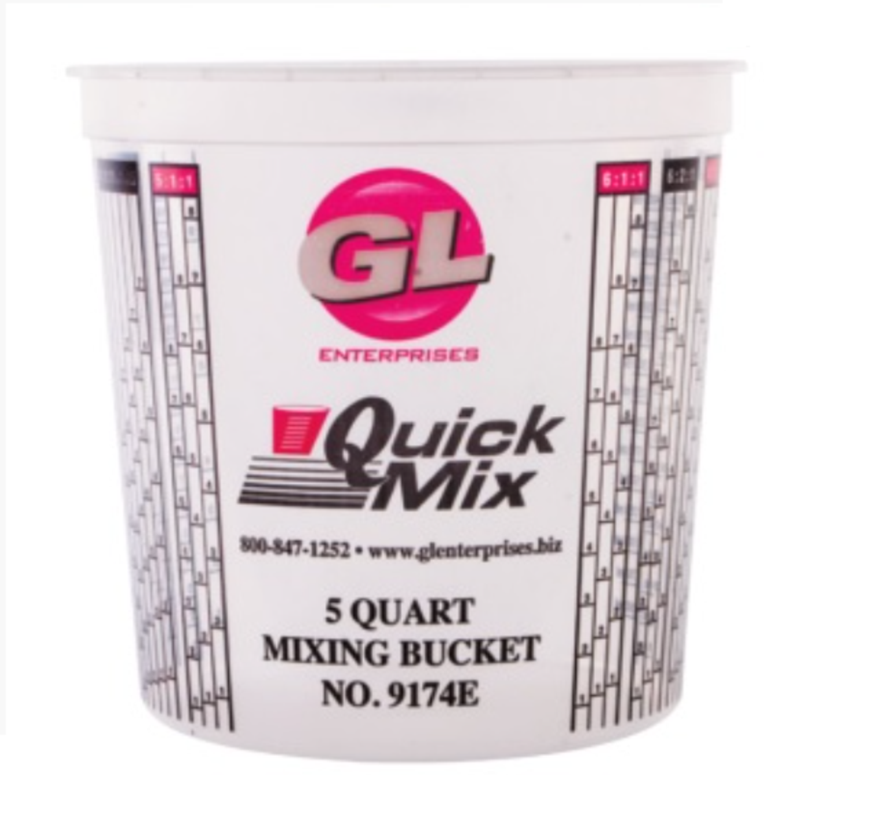 Quick Mix Measuring/Mixing Cups 5 Quarts #9174 Large 174 oz Graduated (25 Per Box)