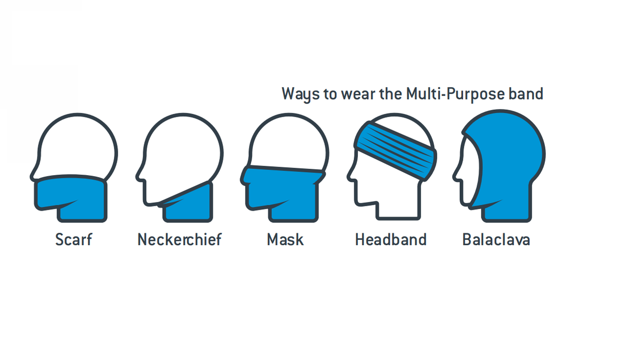 Pyramex MPBFL10 Fleece Multi-Purpose Mask, Hi-Vis Lime (Qty. 1)