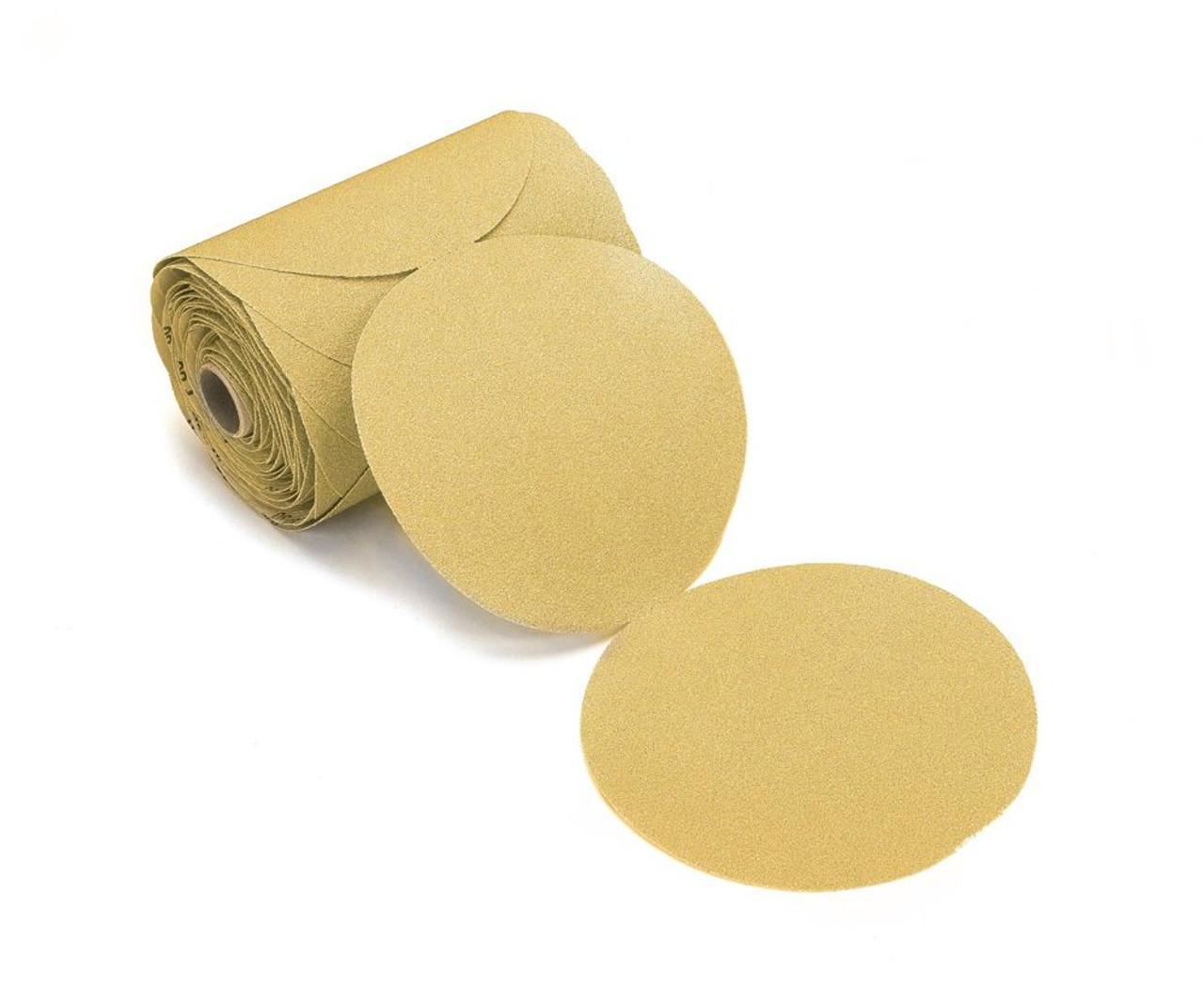 "AB's Premium Gold 6"" PSA Sanding Discs Roll 180 Grit (100 Per Roll)"