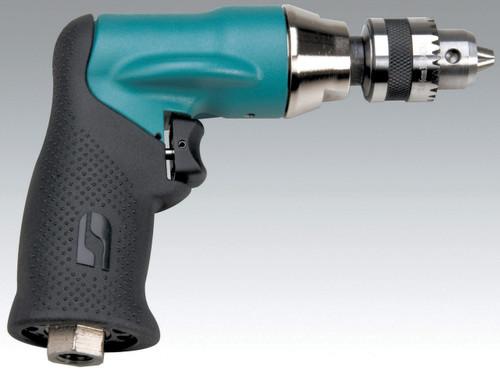 "Dynabrade 52834 1/4"" Drill .4hp 3600 RPM Pistol-Grip Geared Rear Exh. DynaChuck"