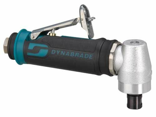 """Dynabrade 48317 - .4 hp Right Angle Die Grinder (Replaces 52317 and 52320) 20,000 RPM, Spiral-Geared, Rear Exhaust, 1/4"""" Collet"""