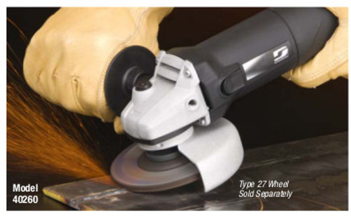 """Dynabrade 40260 - 4-1/2"""" (114 mm) Dia. Electric Right Angle Depressed Center Wheel Grinder 120 V (AC), 60 Hz, 11,000 RPM, 5/8""""-11 Spindle Thread"""