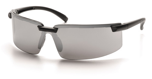 Pyramex SB6170S Surveyor Safety Glasses, Frame: Black, Lens: Silver Mirror (12 Pair)