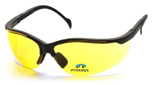 Pyramex SB1830R20 V2 Readers Safety Glasses, Frame: Black, Lens: Amber + 2.0 (12 Pair)