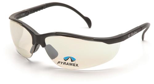 Pyramex SB1880R15 V2 Readers Safety Glasses, Frame: Black, Lens: Indoor/Outdoor Mirror + 1.5 (12 Pair)