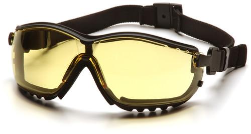 Pyramex GB1830ST V2G Safety Glasses, Frame: Black, Lens: Amber Anti-Fog (12 Pair)