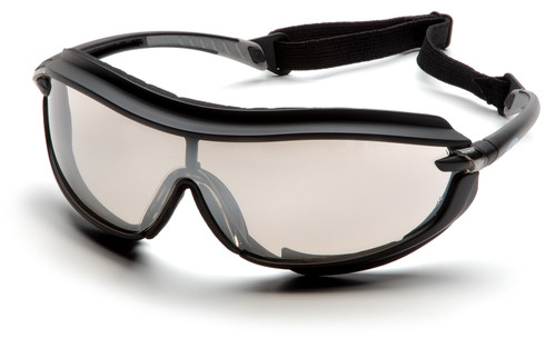 Pyramex SB4680STP XS3 Plus Safety Glasses, Frame: Black, Lens: Indoor/Outdoor Mirror Anti-Fog (12 Pair)