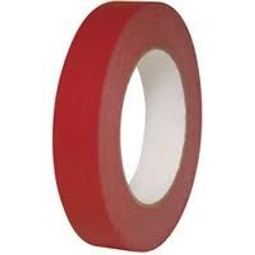 Intertape PF3 3/8 x 60 yds Paper Masking Tape Colored Crepe Identification Tape General Purpose Red (96 Rolls)