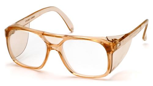 Pyramex SC210C Monitor Safety Glasses, Frame: Caramel , Lens: Clear
