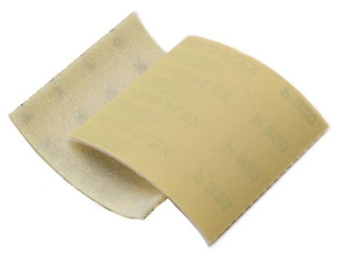 "Mirka 23-145-320 - Goldflex-Soft 4-1/2"" x 5"" Foam-Backed Abrasive Pad 320 Grit"