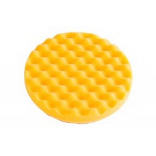 "Mirka MPADYF-3.25W - 3-1/4"" CCS Yellow Waffle Foam Polishing Pad"