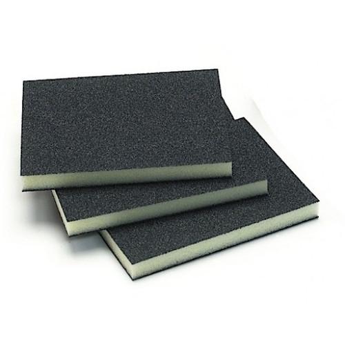 """Mirka 1351-180B  - 3.75"""" x 4.75"""" x 0.5 """"Double Sided Abrasive Sponge - Black 180 Grit"""