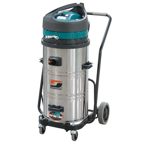 Dynabrade 61401 - Raptor Electric Portable Vacuum System 20 Gallon, 120 V/ 60 Hz, Stainless Steel-Conductive