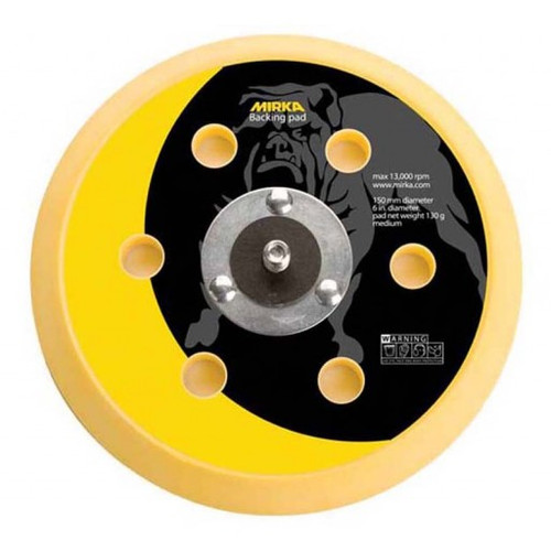 "Mirka 106GV - 6"" Grip Faced Vacuum Backup Pad"