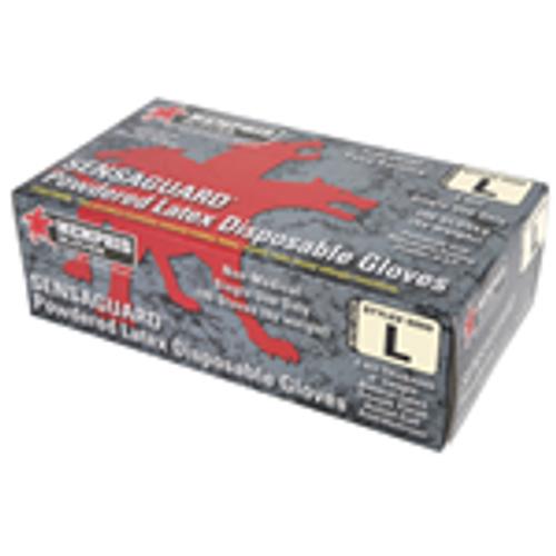 MCR Safety 5059 Sensaguard Latex Disposable, Industrial/Food Service Grade, Powdered Glove