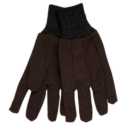 Memphis 7100 Men's Brown Jersey Work Gloves, Size Large