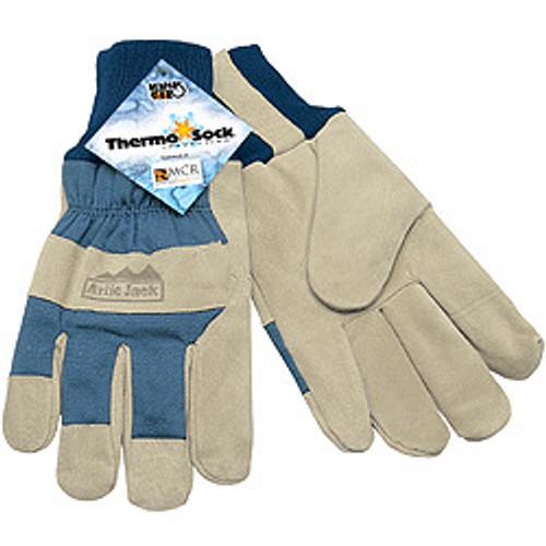"Memphis 1956-L Artic Jack Glove, Split Pigskin Thermosock Lining, 2 1/2"" Knit Wrist, Size Large (12 Pair)"