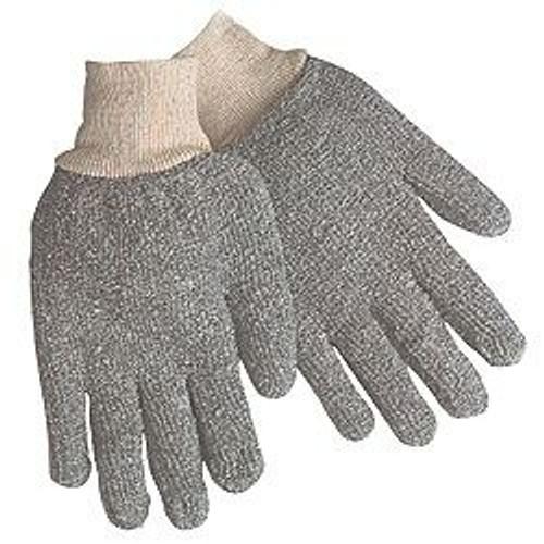 Major Glove 50-12002G Knit Wrist Terrycloth Glove, Regular Weight 22 oz. Gray, Size Large (12 Pair)