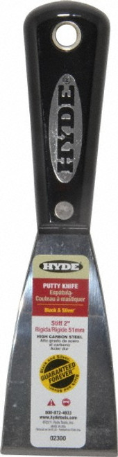 """Hyde Tools 02300 2"""" Carbon Steel Stiff Putty Knife"""