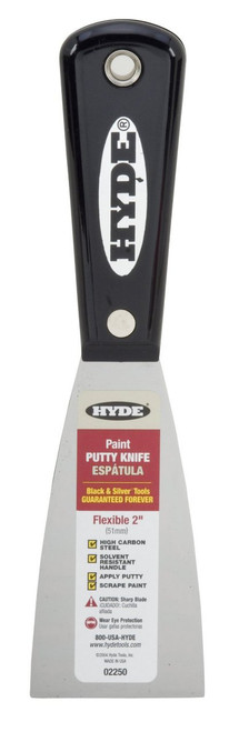 """Hyde Tools 02250 2"""" Flexible Carbon Steel Putty Knife"""