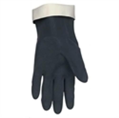 Memphis 5435 Glove Black Flock-Lined Neoprene, Size Large (12 Pair)