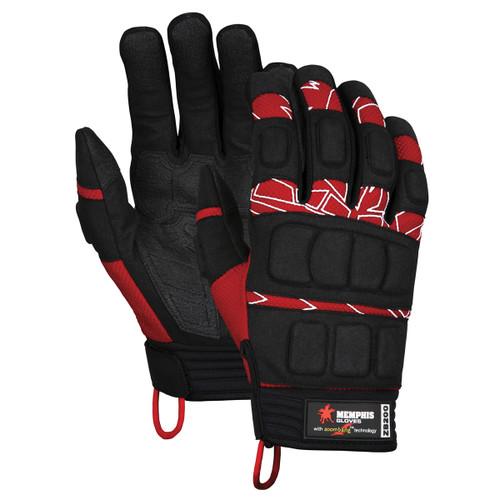 Memphis ZB200 ForceFlex Zoombang Back/Hand/Fingers Impact Protection Glvs,Size L