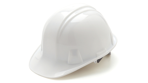 Pyramex HP16110 Standard SL Series White Cap Style 6-Point Ratchet Hard Hat (16 Each)