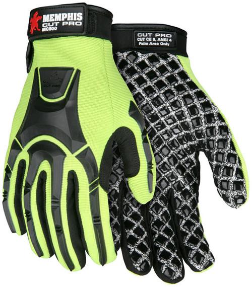 Memphis MC500 Cut Pro Gloves 10 Gauge HPPE/Synthetic Nylon, Size XXLarge (1 Pair)
