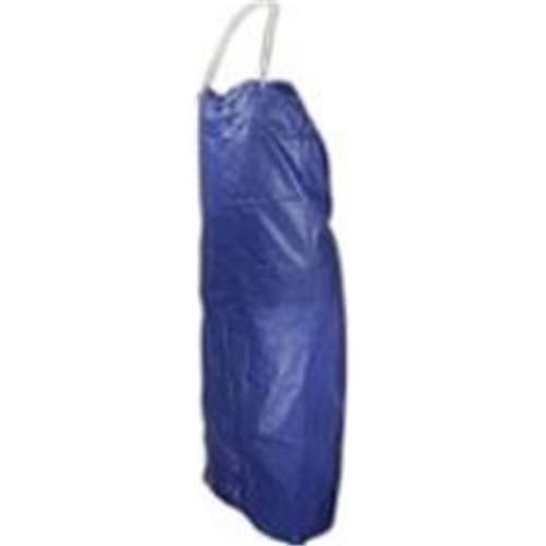 River City Garments 073R4 8 mil Blue Vinyl Apron, Qty.12