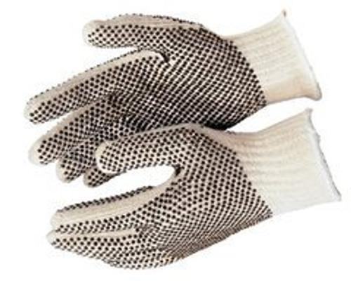 Memphis 9660LM Glove PVC Dot String Knit Gloves Size Large (12 Pair)