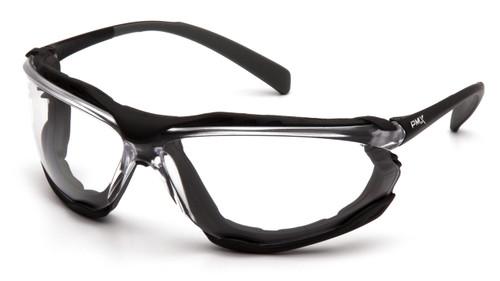Pyramex SB9310ST Proximity Safety Glasses Black Frame with Clear H2X Anti-Fog Lens (12 Pair)