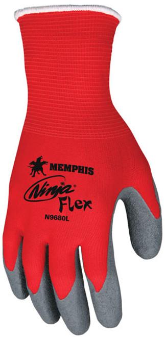 Memphis N9680 Red Ninja Flex Gloves, 15 Gauge, Size Small, (12 Pair)
