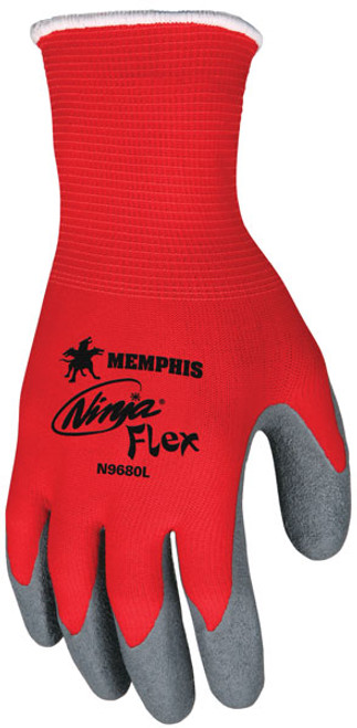 Memphis N9680 Red Ninja Flex Gloves, 15 Gauge, Size Large, (12 Pair)
